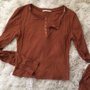 Tops - Rust long sleeve
